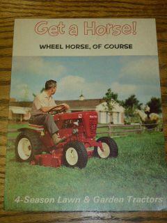 VINTAGE! WHEEL HORSE TRACTOR SALES BROCHURE, 4 season lawn & garden