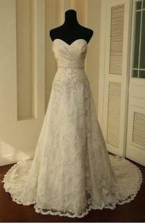 Elegant Lace Ivory Wedding Dress Bridal Gown Long Prom Dress Formal