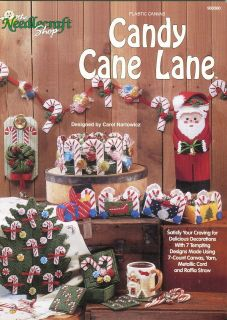 Candy Cane Lane ~ Plastic Canvas Booklet ~ Christmas Tree ~ Train