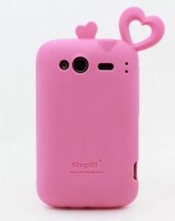 HEART RUBBER SILICONE SOFT CASE COVER ★ HTC G13 Wildfire S