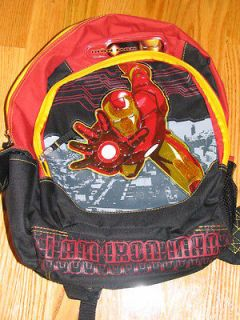 New Full Sized Boys Iron Man Backpack 17 Large NWOT L@@K