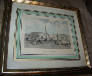 Turner Fashion Plate Wall Accessory  Paris Place De La Concorde