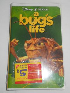 DISNEYS PIXAR A BUGS LIFE VHS NEW SEALED