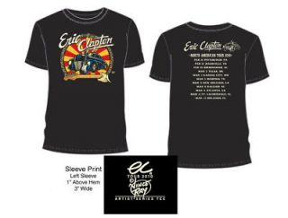 ERIC CLAPTON 2010 TOUR T SHIRT BLACK CAR XL