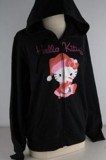 Hello Kitty Black Santa Hello Kitty Zipper Hoodie Junior 3117