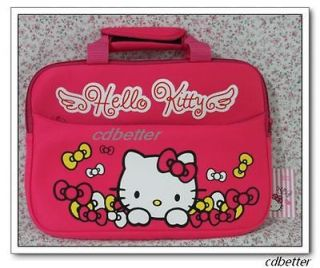 New lovely Peach Hello Kitty Computer Cases Note Book Laptop Bags Kids