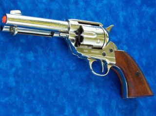 M1873 FAST DRAW PISTOL Peacemaker Prop Gun NICKEL Finish John Wayne