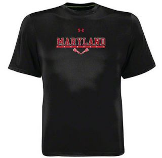 Maryland Terrapins Black Under Armour Lacrosse Performance Catalyst T