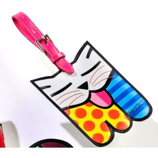 Romero Britto Cat II Luggage Tag by Giftcraft