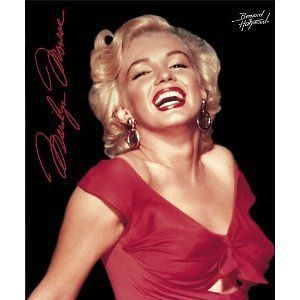 Marilyn Monroe Red Dress Fleece Throw Blanket 50x60