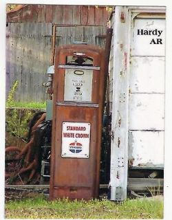STANDARD WHITE CROWN GAS,SERVICE STATION PUMP HARDY,AR 2000
