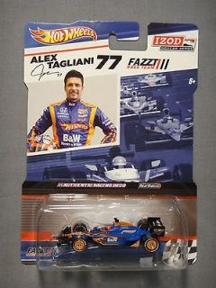 HOT WHEELS REAL RIDERS IZOD INDY CAR SERIES ALEX TAGLIANI #77 DIECAST