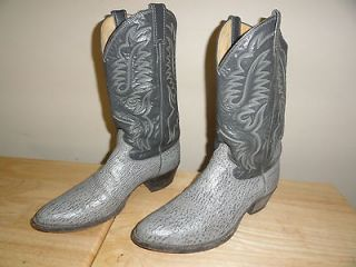 Nice Cool 12 Tall 2 Tone GREY LEATHER JUSTIN COWBOY BOOTS Style 8529