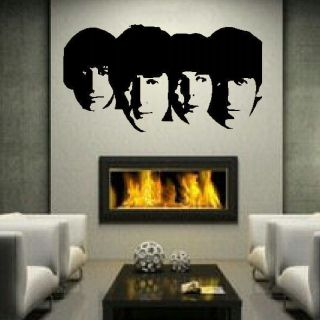 THE BEATLES LARGE BEDROOM WALL MURAL ART STICKER STENCIL DECAL MATT