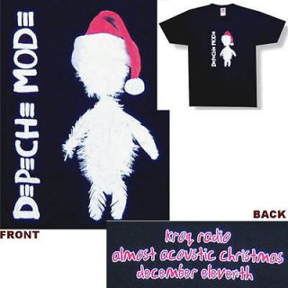 DEPECHE MODE KROQ CHRISTMAS EVENT SHOW BLACK T SHIRT LARGE NEW