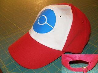 New Pokemon Black and White Ash Hat Costume Cap Adult