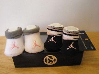 NIKE AIR JORDAN BABY NEWBORN INFANT GIRLS CRIB SHOES BOOTIES SOCKS 0 6