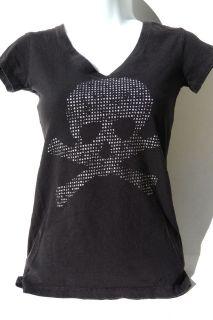 Skull & Cross Bones T Shirt Size XSmall 100% Cotton by L.O.L. Vintage