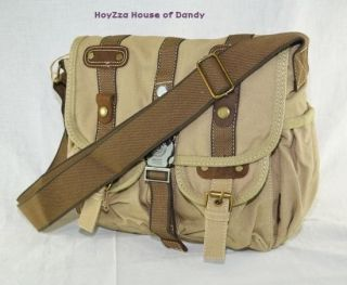 Canvas Vintage Look Casual style Medium Size Shoulder Messenger Bag