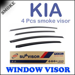 04 10 Kia Picanto / Morning] Sun Visor Smoke Window Vent Shade Rain
