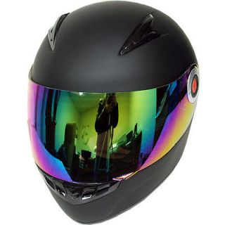 New Youth Kids Motorcycle Full Face Helmet Matt Black Size S M L XL