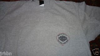 preowned Atlantic County City NJ Harley Davidson t shirt XXL 2XL MADE