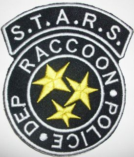 Police Resident Evil Stars Iron on HIGH QUALITY CREST Patch