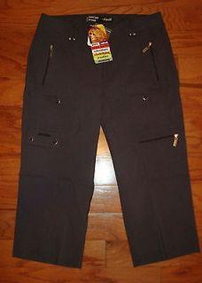 Jamie Sadock Gunsmoke Gray Microfiber Capri Pants~$110~Lots of