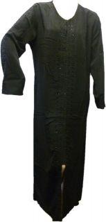 LADIES Black Abaya Burqa Burka Jilbab Hijab long islamic size M/L/XL