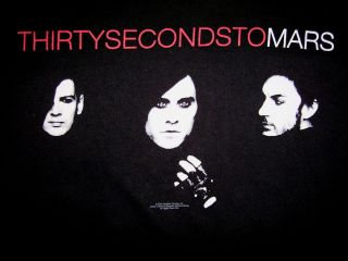 30 THIRTY SECONDS TO MARS T SHIRT Jared Leto Band Concert Tour Free