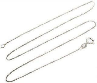 Sterling Silver Box Chain Necklace GENUINE 925 ITALY