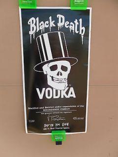 black death vodka poster slash guns n roses time left