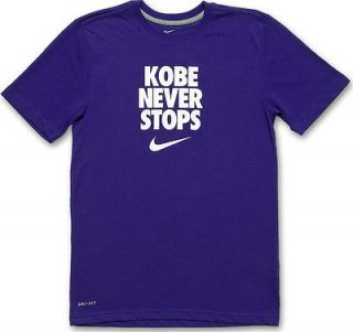 NIKE Kobe Bryant KOBE NEVER STOPS T Shirt Mens Medium Venomenon