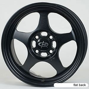 15 ROTA SLIPSTREAM BLACK RIMS WHEELS 15x7 +40 5x114.3 TYPE R CIVIC RSX