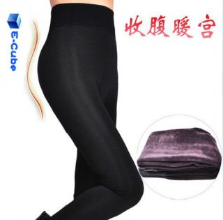 Koala Velvet High Waist Wave Pattern Leggings Tights Thicken Stretchy