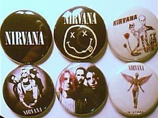 6x nirvana kurt cobain buttons badges shirt pins new  2 87