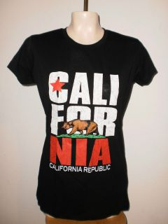 NEW   CALIFORNIA REPUBLIC   JUNIOR LARGE XLARGE SIZES T SHIRT