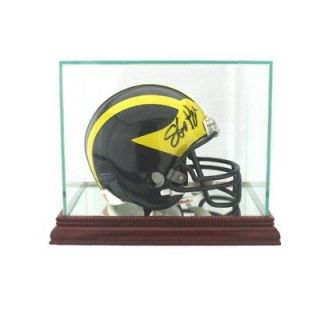 newly listed new glass mini helmet display case nfl ncaa