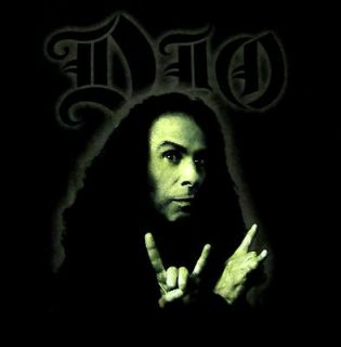 DIO cd lgo RONNIE JAMES DIO PHOTO Official SHIRT LRG New black sabbath