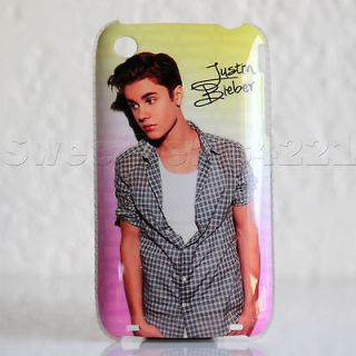 Apple iPhone 3G/3GS Justin Bieber Beiber Case Cover Protector Pink