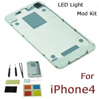 New Hot LED Light Luminescent Mod Kit Glowing Logo Back Cover Case For