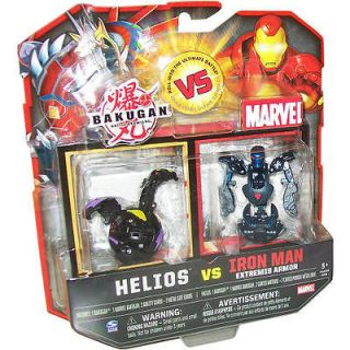 Bakugan Battle Brawlers Helios versus Iron Man Stealth Armor   BLUE