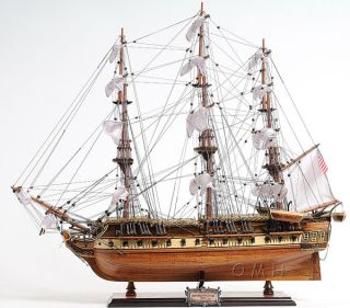 USS Constitution Wooden Model Old Ironsides Ship 31