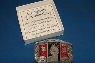 American Legends Foundry Marilyn Monroe Commemorative Belt Buckle