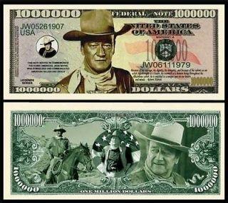 FREE SHIP) JOHN WAYNE MILLION DOLLAR BILL MONEY
