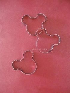 Mickey Mouse Head B Shape Multi Use Stainless Steel Cookie Cutter