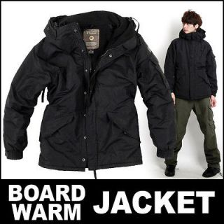 MENS NEW MILITARY SNOWBOARD & WARM JACKET WATERPROOF Solid Black M