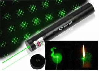 Adjustable Focus Burning Green Laser Pointer with charger + Laser head