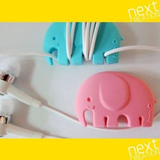 Kedo] Animal Love Small Cable Cord Wrap Holder Lead Reel   Blue