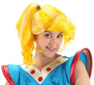 rainbow brite bright cartoon costume blonde yellow wig one day